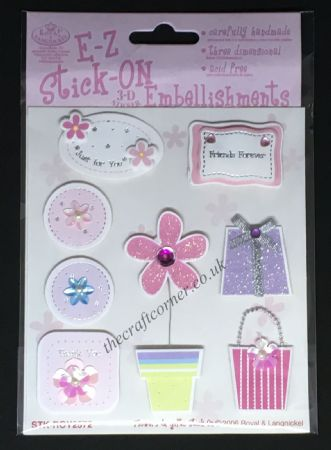 Flowers & Gifts Glitter and Gem E-Z Stick-On Embellishments